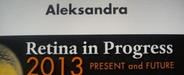 RETINA IN PROGRESS 2013 – Okulista Wrocław – Aleksandra Sonecka